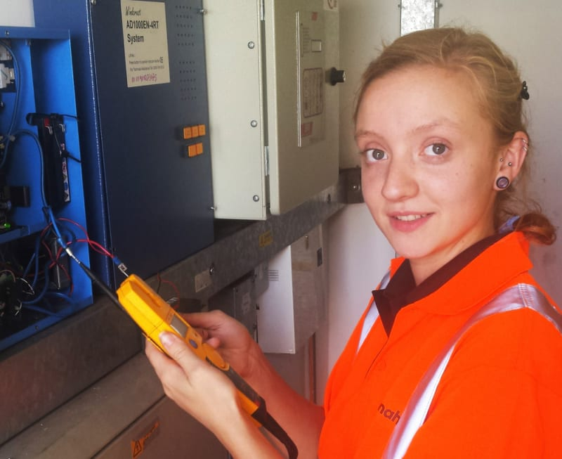 Female lift engineer